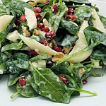 5' Pomegranate Pear Walnut Salad per person - Gluten Free