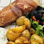Familychef 30' Prosciutto Wrapped Chicken plate