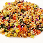 25΄ Quinoa Salad per person - Low Calories, Vegan