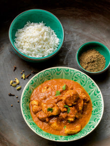 Thermomix chicken masala plate