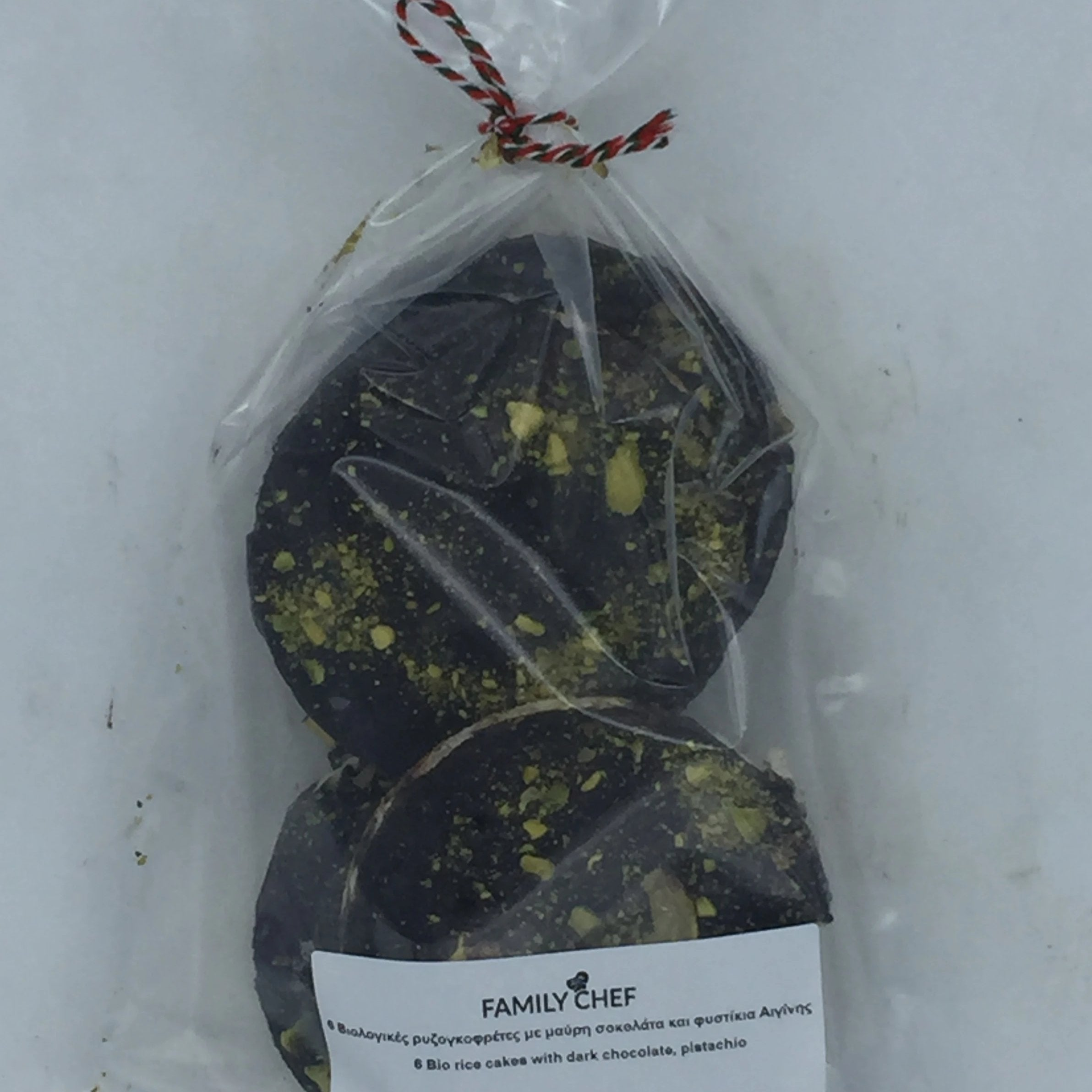 Dark Chocolate & Pistachio Bio Rice Cakes  6 X 33g