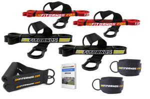 Resistance Band Starter Kit | with 4 SR Fit Bands, 2 Ankle Cuffs and 2 Handles