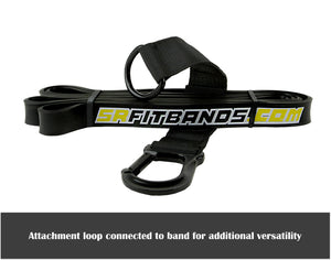 "Black SR Fit Bands - Single 41"" Resistance bands featuring the SR Fit Attachment Loop (25-65 lbs)"