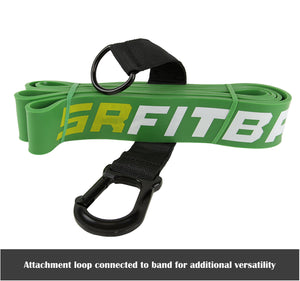 "Green SR Fit Bands | Single 41"" Resistance bands featuring the SR Fit Attachment Loop (50-125 lbs)"