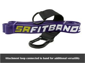 "Purple SR Fit Bands | Single 41"" Resistance bands featuring the SR Fit Attachment Loop (35-85 lbs)"