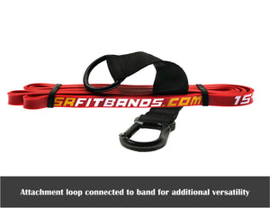 "Red SR Fit Bands | Single 41"" Resistance bands featuring the SR Fit Attachment Loop (15-35 lbs)"