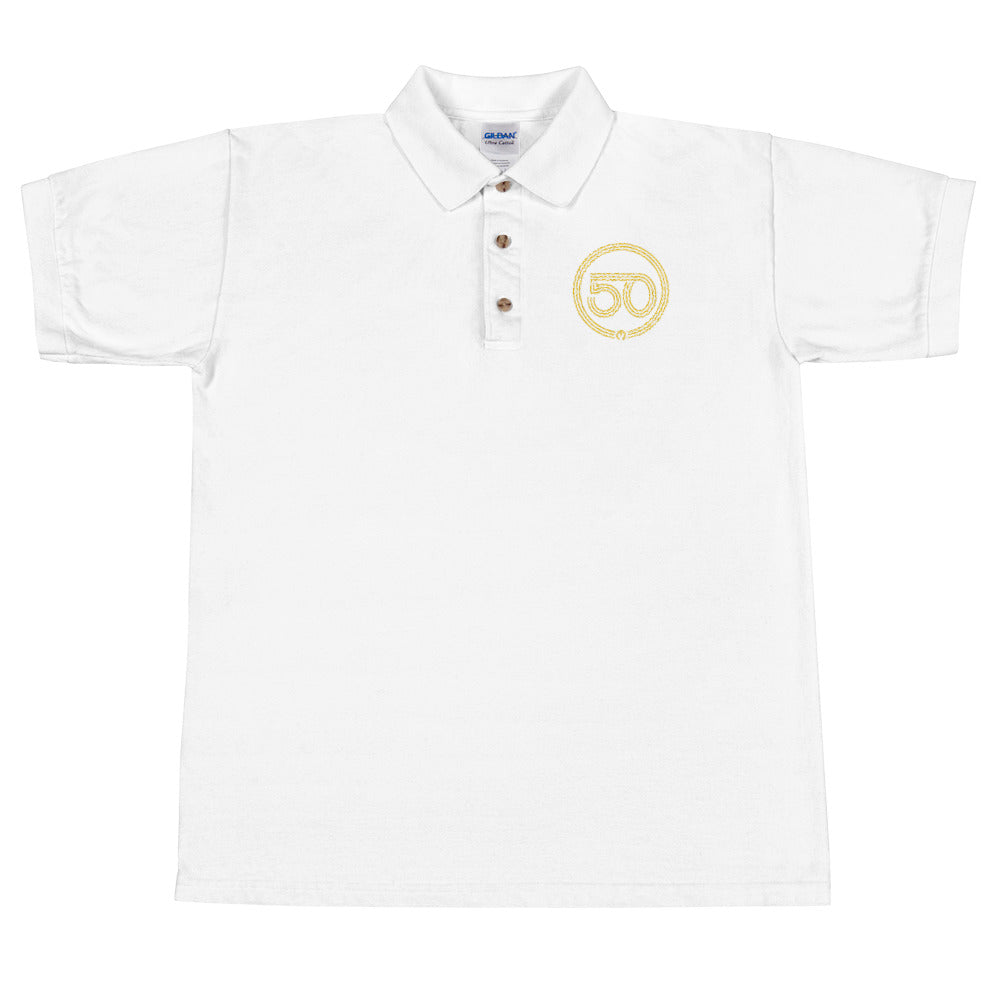 50th Year of Jubilee Embroidered Polo Shirt