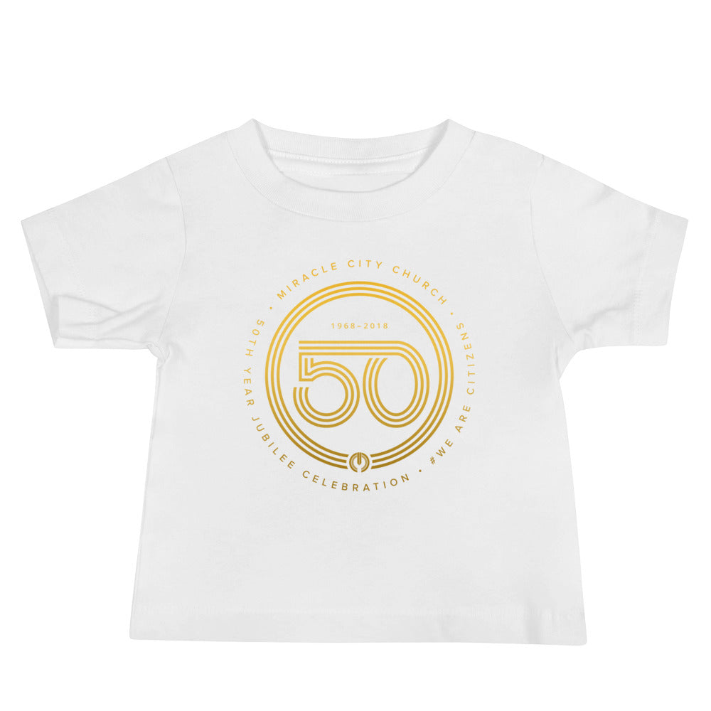 50th Year of Jubilee Baby Jersey Short Sleeve Tee