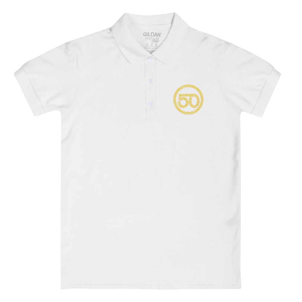 50th Year of Jubilee Embroidered Women's Polo Shirt