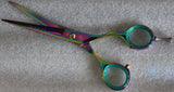 Walda Professional Rainbow Color 440 SS Razor Edge Sharp Cut Scissors WIC-R-800