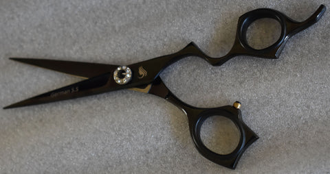 Walda Professional J2 Sharp Razor Edge Black Beauty Diamond Scissors WIC-R-794