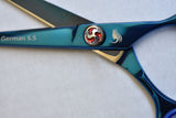 Walda Professional Sharp Razor Edge J2 Scissors Metallic Tropical Rain Forest WIC-R-792