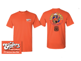 Sliders - Fancy Clancy T-Shirt in Orange - Men's