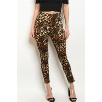 Animal Print Leggings - Leggings