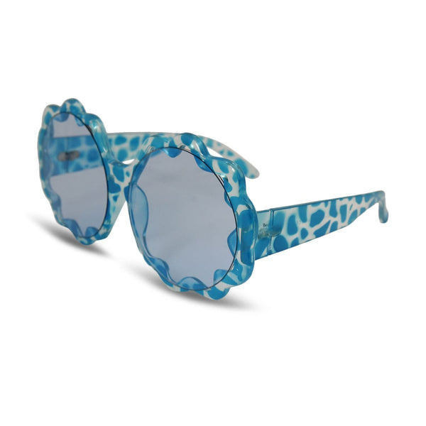 Animal Print Sunglasses - Blue Print - Accessories