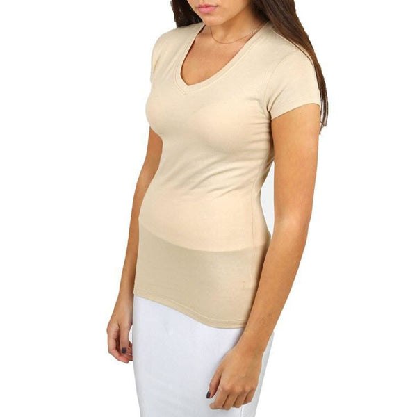 Beige Curvaceous Plus Size Tee Top - Best YOU by HTS