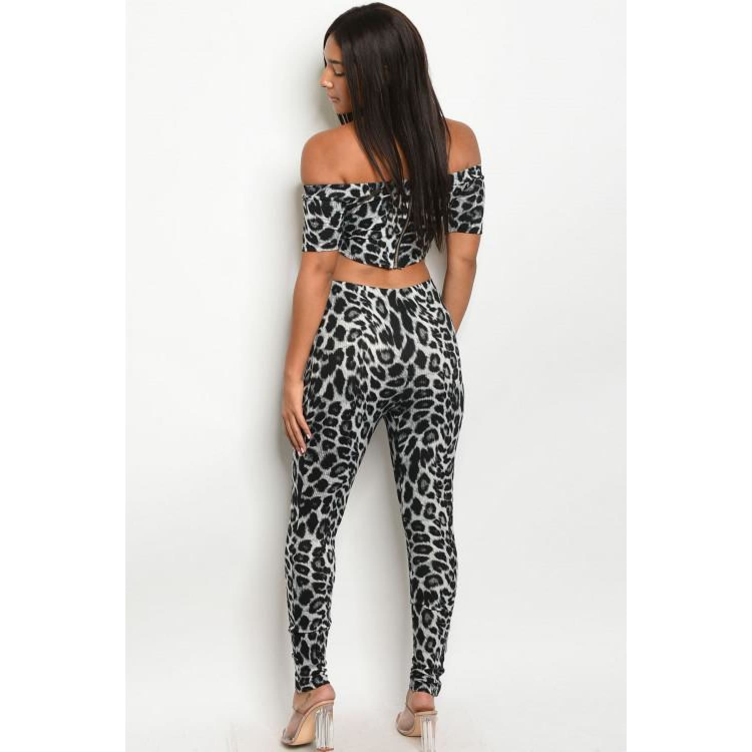 Black and Gray Animal Print Set - OUTFITS