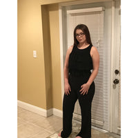 Black Layered Ruffle Jumpsuit - Best YOU by HTS