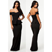 Black Off Shoulder Maxi Dress - Best YOU by HTS