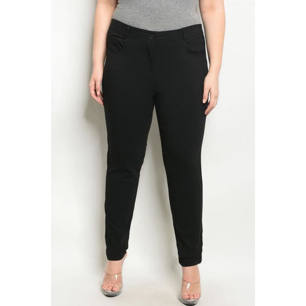 Black Pencil Pants Plus - Best YOU by HTS