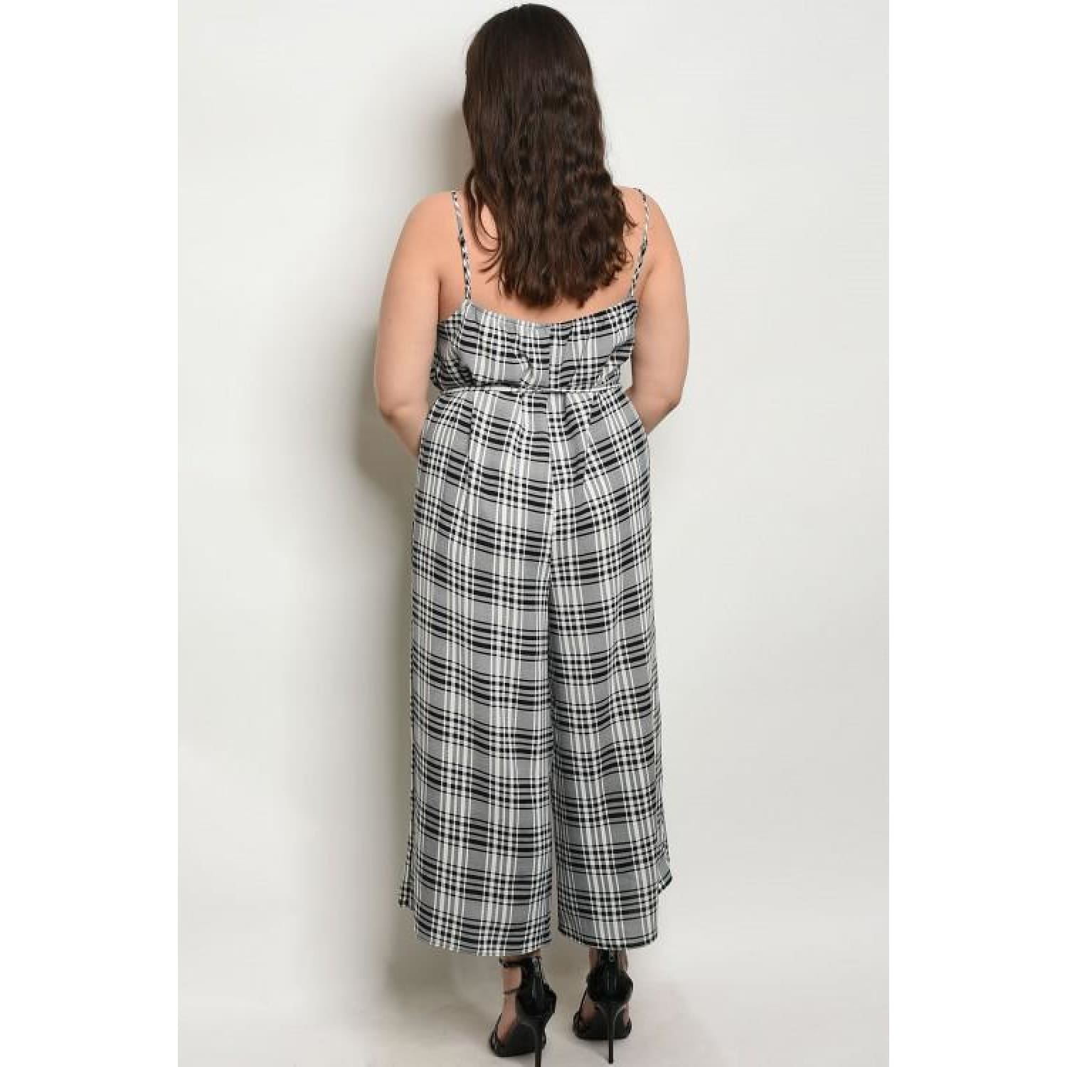 Black White Checkers Plus Size Jumpsuit - Best YOU by HTS