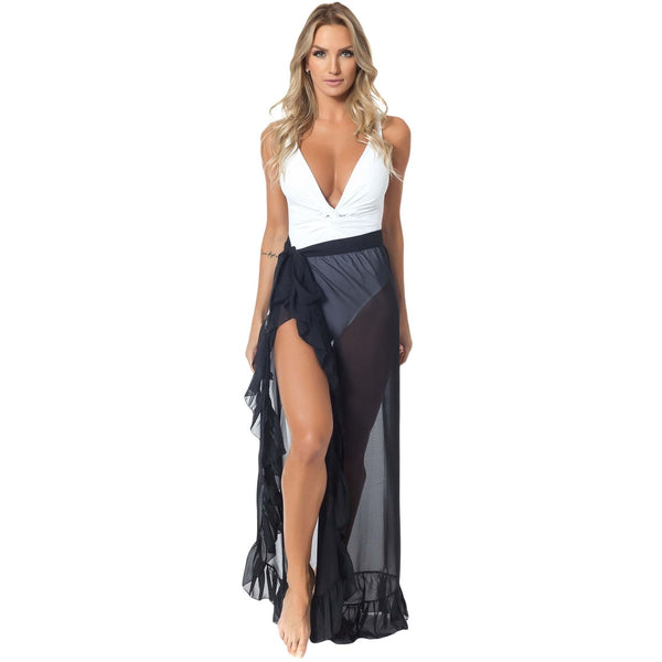Black Wrap Beach Skirt - Best YOU by HTS
