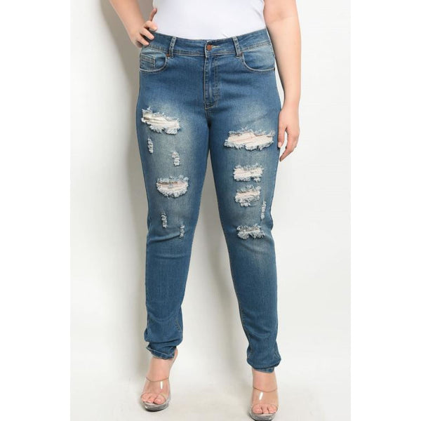 Blue Denim Plus Size Jeans - Best YOU by HTS