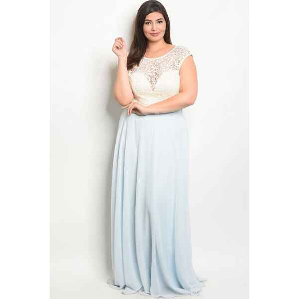 Blue Ivory Plus Maxi Dress - Best YOU by HTS