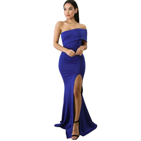 Blue One Sleeve Maxi Dress - Best YOU by HTS
