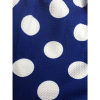 Blue Polka Dot Dress with Cut Outs - Best YOU by HTS