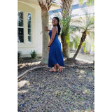 Blue Sexy Asymmetric Maxi Dress - Best YOU by HTS