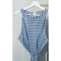 Blue Stripes Jumpsuit - Plus - OUTFITS