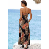 Bohemian Strapless Maxi Dress - DRESSES