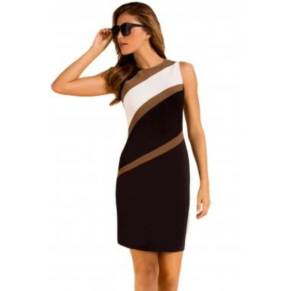 Brown Stripe Dress 12/14 - Best YOU by HTS