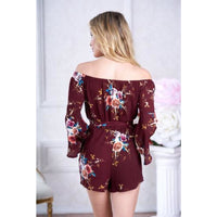 Burgundy Romper 6/8 - Best YOU by HTS