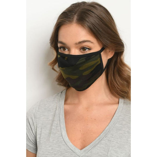 Camouflage Print Mask - Accessories