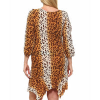 Cheetah Print Dress Plus - DRESSES