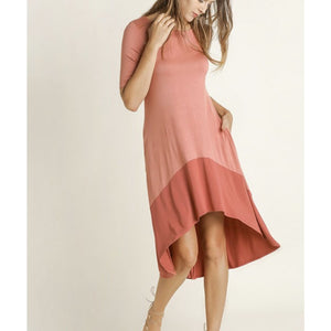 Cinnamon Contrast Dress - Best YOU by HTS
