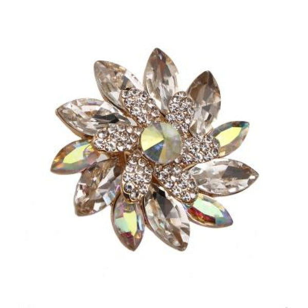 Color Glow Flower Fashion Ring - Accessories