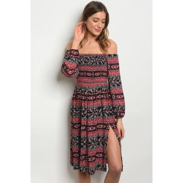 Coral White Black Print Dress - Best YOU by HTS
