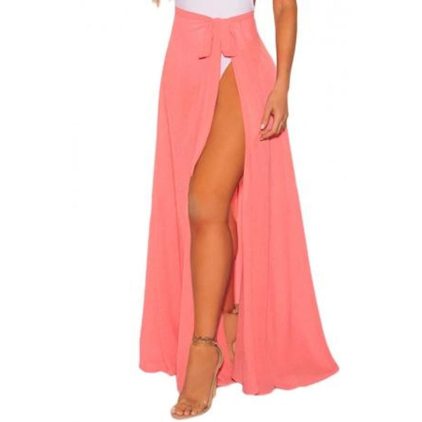 Coral Wrap Beach Skirt - Best YOU by HTS