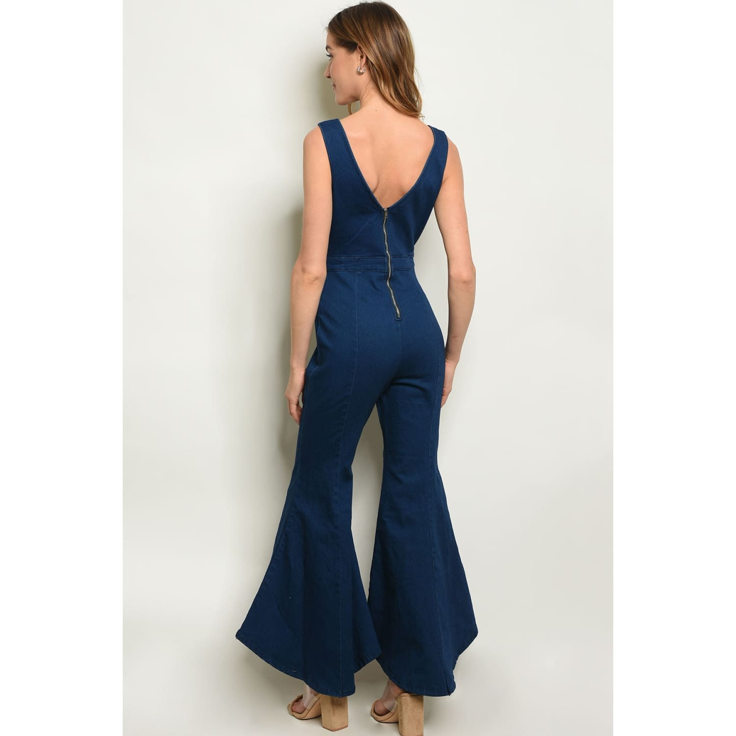 Denim Flare Bottom Jumpsuit - Best YOU by HTS