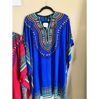 Ethnic Caftan Top - Blue Multi - TOPS