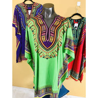 Ethnic Caftan Top - Green Multi - TOPS