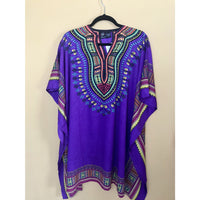 Ethnic Caftan Top - Purple Multi - TOPS