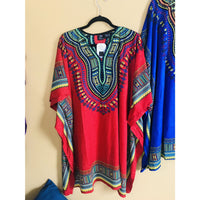 Ethnic Caftan Top - Red Multi - TOPS