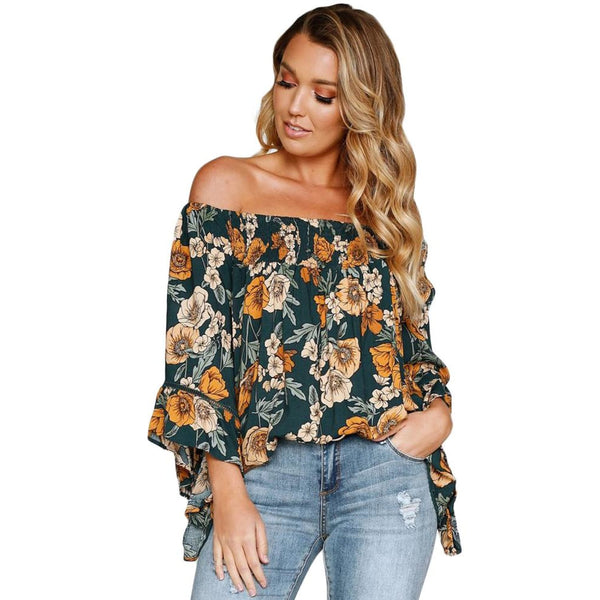 Floral Cold Shoulder Top - Best YOU by HTS
