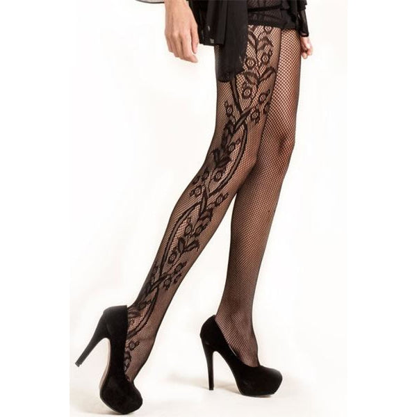 Floral Fishnet Pantyhose - Plus - Best YOU by HTS