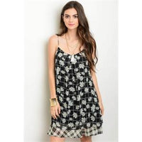 Floral & Plaid Dress - Best YOU by HTS