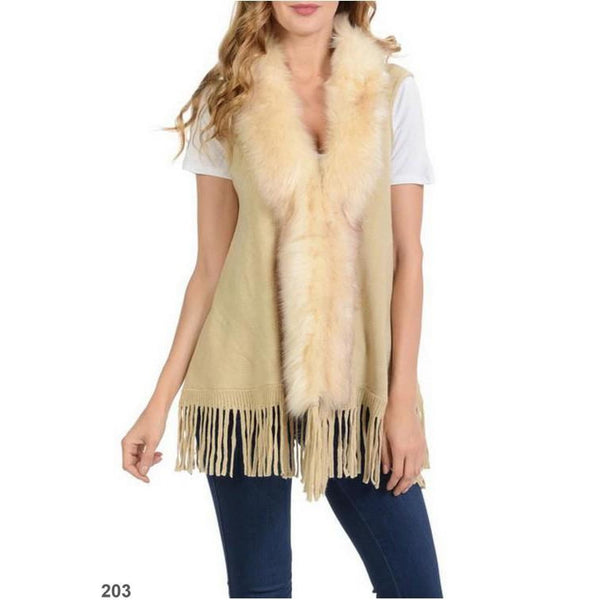 Fur Fringe Vest - Best YOU by HTS